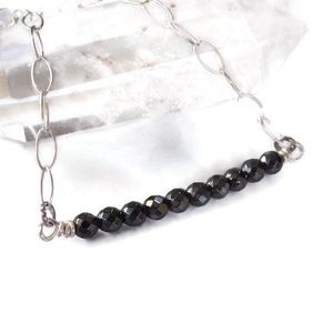 925 Onyx Bar Necklace